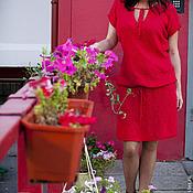 Вязаное платье авторское Красивое