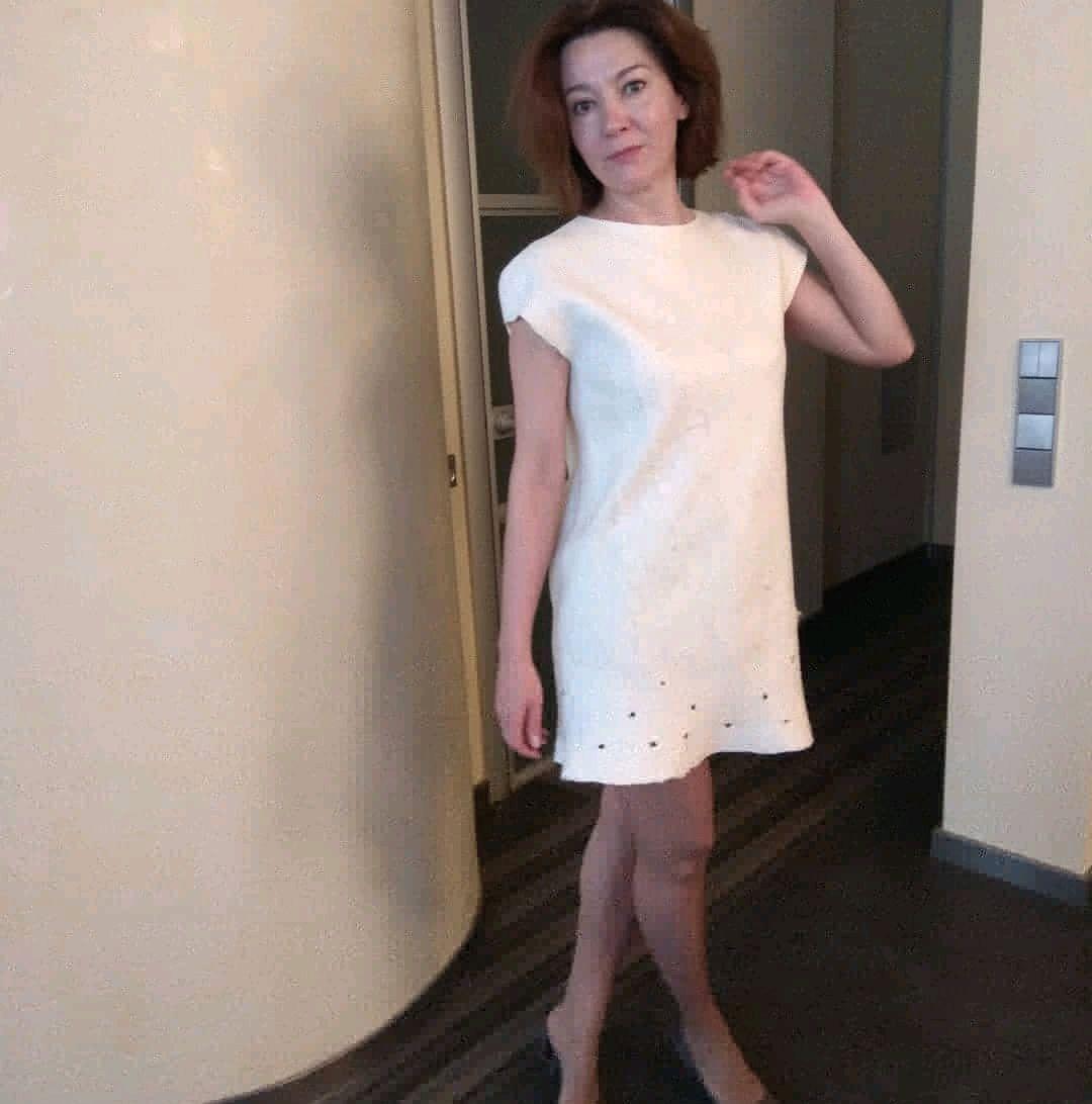 Обувь ручной работы. Ярмарка Мастеров - ручная работа. Купить Платье валяное, размер 44-46(м-л). Handmade.