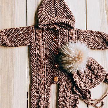 Одежда ручной работы. Ярмарка Мастеров - ручная работа Детский комбинезон ручной вязки. Handmade.