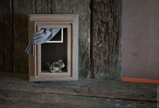 Животные ручной работы. Ярмарка Мастеров - ручная работа. Купить Ворона. Handmade. Комбинированный, ворона, ожидание, детская, забавная, гипс