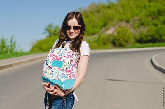 """Рюкзаки ручной работы. Ярмарка Мастеров - ручная работа. Купить Рюкзак женский из ткани """" Showy bag"""". Handmade. Комбинированный"""