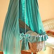 Для дома и интерьера ручной работы. Ярмарка Мастеров - ручная работа Плетеная люлька подвесная и с подставкой. Handmade.