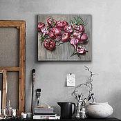 Картины ручной работы. Ярмарка Мастеров - ручная работа Развязанный розовый лук. картина маслом. Handmade.