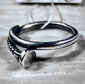 Украшения ручной работы. Ярмарка Мастеров - ручная работа Кольцо серебряное гвоздь. Handmade.