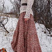 Одежда handmade. Livemaster - original item Long skirt Terracotta. Handmade.