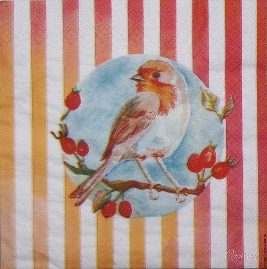 Декупаж и роспись ручной работы. Ярмарка Мастеров - ручная работа. Купить 14шт салфетка для декупажа птица воробей на ветке салфетки декупажные. Handmade.