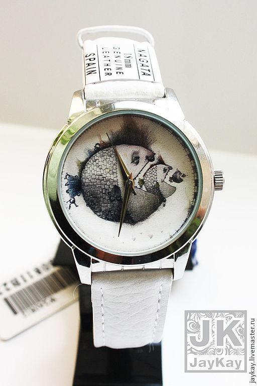 """Часы ручной работы. Ярмарка Мастеров - ручная работа. Купить Часы наручные JK """"Рыбы"""". Handmade. Наручные часы, часы"""