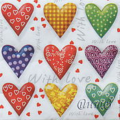 Материалы для творчества handmade. Livemaster - original item Napkins for decoupage heart print. Handmade.