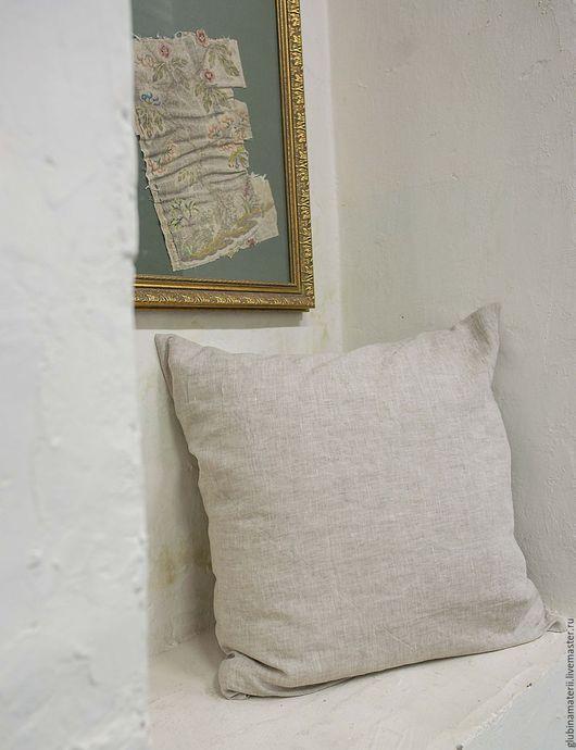 Текстиль, ковры ручной работы. Ярмарка Мастеров - ручная работа. Купить Наволочка 70х70, умягченный лён. Handmade. Белый