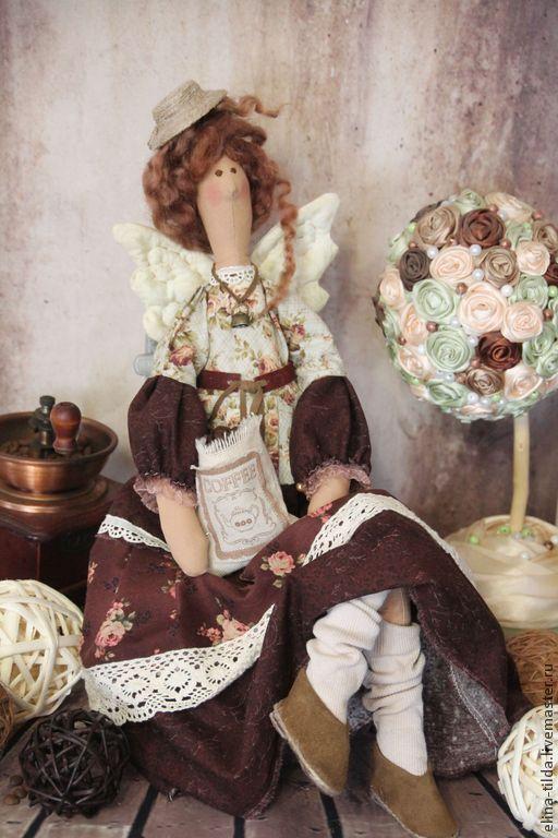 Куклы Тильды ручной работы. Ярмарка Мастеров - ручная работа. Купить Кофейная фея. Handmade. Коричневый, уютный подарок
