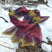 Аксессуары handmade. Livemaster - original item Wool scarf, stole (color