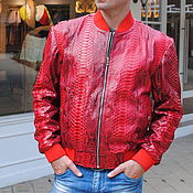 Мужская одежда handmade. Livemaster - original item Garfiya Python leather jacket. Handmade.