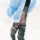 Кофты и свитера ручной работы. Вязаный кардиган «Blue Sun». KESLOVE (Евгения ). Ярмарка Мастеров. Авторская работа