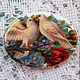 Для украшений ручной работы. Ярмарка Мастеров - ручная работа. Купить Кабошон Голуби 30х40мм, фарфор. Handmade. Камея, камеи