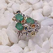 Украшения handmade. Livemaster - original item Silver ring with emerald.. Handmade.
