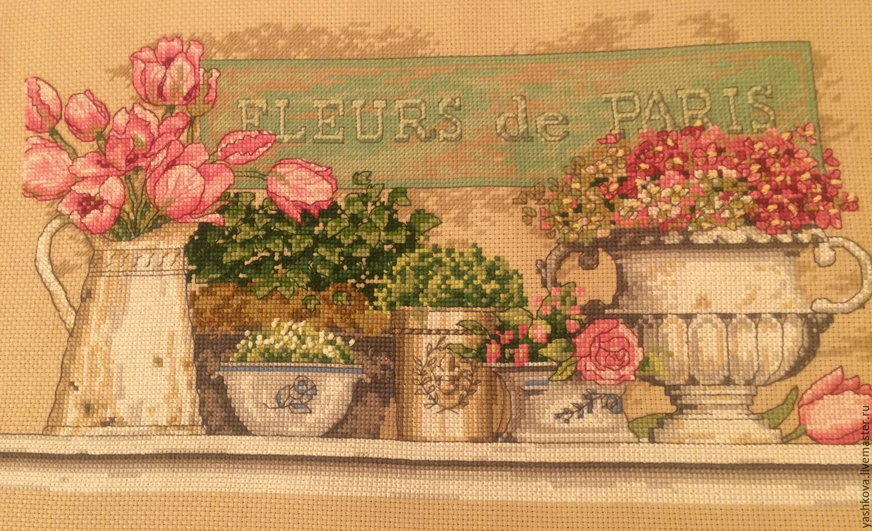 Авторские работы вышивки крестом цветы