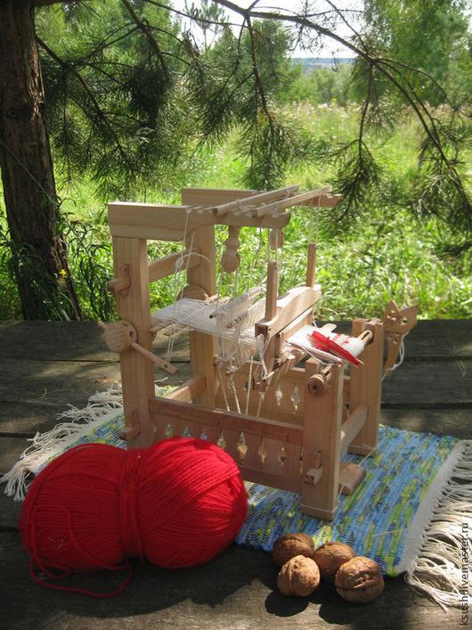 Ткачество ручной работы. Ярмарка Мастеров - ручная работа. Купить Ткацкий станок игрушечный 1:5. Handmade. Бежевый, бук