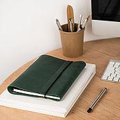 Канцелярские товары handmade. Livemaster - original item Leather notebook on the rings concise A5 Notepad made of genuine leather. Handmade.