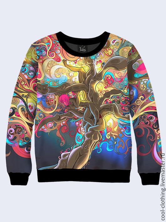 """Кофты и свитера ручной работы. Ярмарка Мастеров - ручная работа. Купить Женская кофта """"Сказочное дерево"""". Handmade. Разноцветный"""