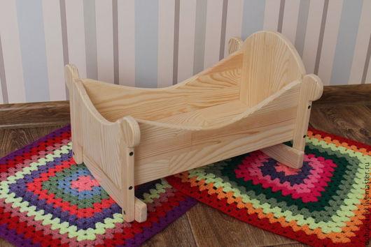 Развивающие игрушки ручной работы. Ярмарка Мастеров - ручная работа. Купить Кукольная кроватка № 2. Handmade. Бежевый