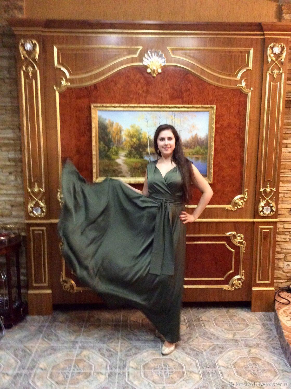 5563408e5f7 Платья ручной работы. Ярмарка Мастеров - ручная работа. Купить Шикарное  платье из шёлка Армани ...