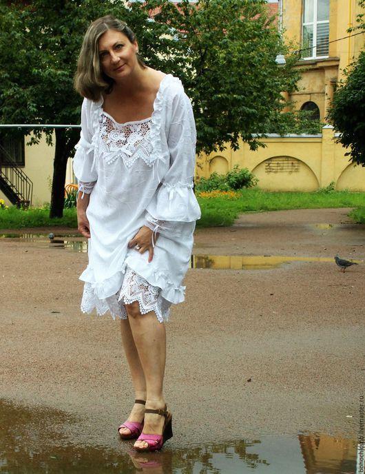 """Платья ручной работы. Ярмарка Мастеров - ручная работа. Купить Платье """"Летние мечты"""". Handmade. Белый, нарядное платье, лето"""