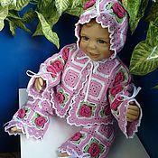 Работы для детей, ручной работы. Ярмарка Мастеров - ручная работа Костюм для малыша «Цветочное дитя», с розами. Handmade.