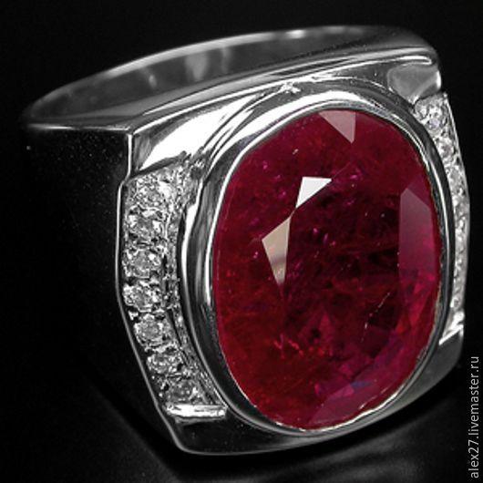 Кольцо рубин сапфир р.19,0 серебро 925