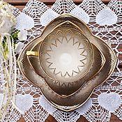 Винтаж handmade. Livemaster - original item ALKA (Bavaria).Elegant tea trio.Germany.. Handmade.