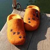 """Обувь ручной работы. Ярмарка Мастеров - ручная работа Тапочки-шлепки """"Рыжики"""". Handmade."""