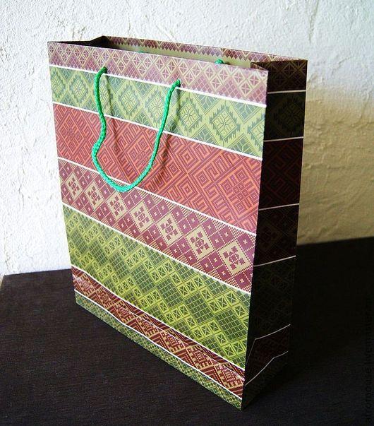 Пакет `Этнические узоры`  большой 28х34х9