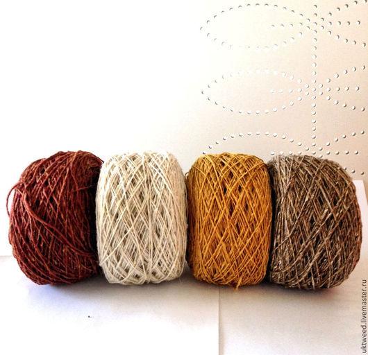 Вязание ручной работы. Ярмарка Мастеров - ручная работа. Купить Soft Donegal Tweed -100% меринос. Handmade. Бордовый