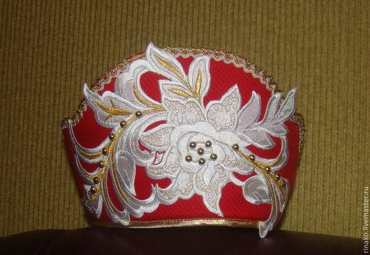 Шляпы ручной работы. Ярмарка Мастеров - ручная работа. Купить Кокошник. Handmade. Ярко-красный, орнамент, кокошник, сценический костюм