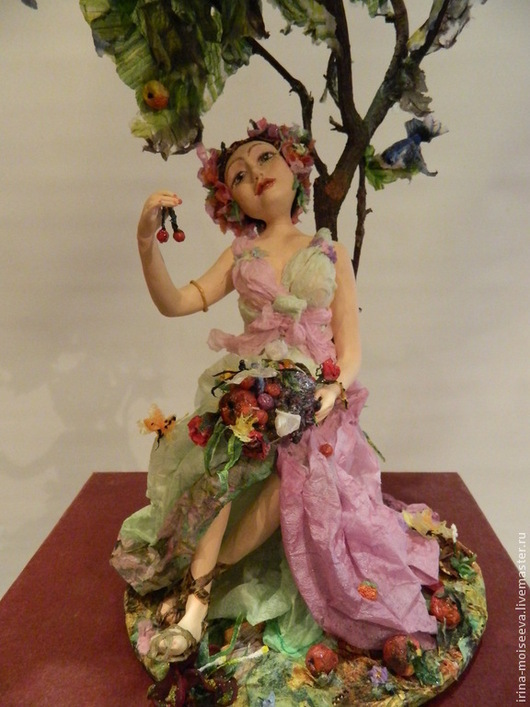 Коллекционные куклы ручной работы. Ярмарка Мастеров - ручная работа. Купить Лето. Handmade. Кукла ручной работы, Паперклей