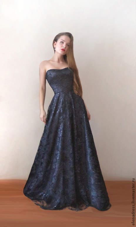 Платья ручной работы. Ярмарка Мастеров - ручная работа. Купить Корсажное платье из атласа и гипюра на шнуровке Elegance. Handmade. Платье