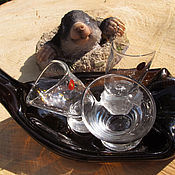 Сувениры и подарки ручной работы. Ярмарка Мастеров - ручная работа «Не винный» комплект. Пьяное стекло.. Handmade.