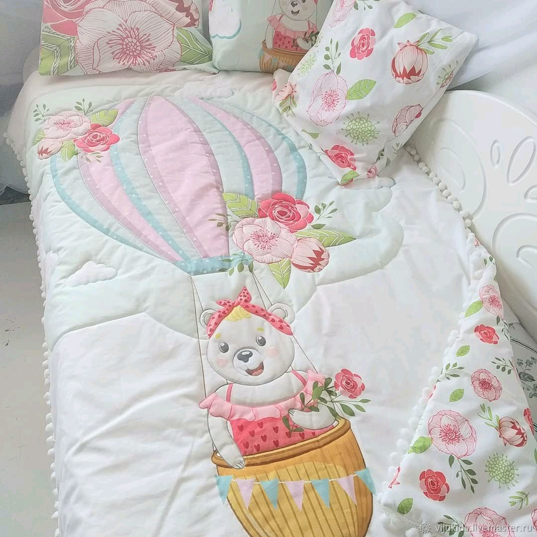 Set in a baby cot. Blanket pillows pillowcases, Teething toys, Orekhovo-Zuyevo,  Фото №1
