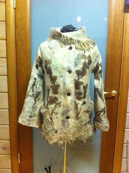 Верхняя одежда ручной работы. Ярмарка Мастеров - ручная работа. Купить пальто Осеннее  настроение. Handmade. Шерсть 100%