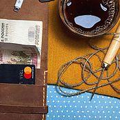 Портмоне ручной работы. Ярмарка Мастеров - ручная работа Бумажник. Handmade.
