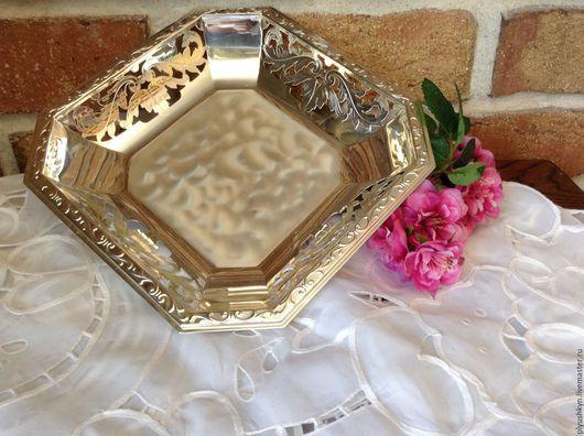 Винтажная посуда. Ярмарка Мастеров - ручная работа. Купить Блюдо. Handmade. Серебряный, антиквариат, подарок, посеребрение, серебро