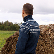 Одежда handmade. Livemaster - original item Men`s knitted sweater with the Norwegian pattern Bjorn. Handmade.
