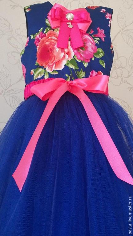 Одежда для девочек, ручной работы. Ярмарка Мастеров - ручная работа. Купить Платье «Анастасия». Handmade. Тёмно-синий, платье для вечеринки