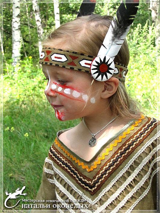 Детские карнавальные костюмы ручной работы. Ярмарка Мастеров - ручная работа. Купить Индианка (карнавальный костюм). Handmade. Индейцы, елка