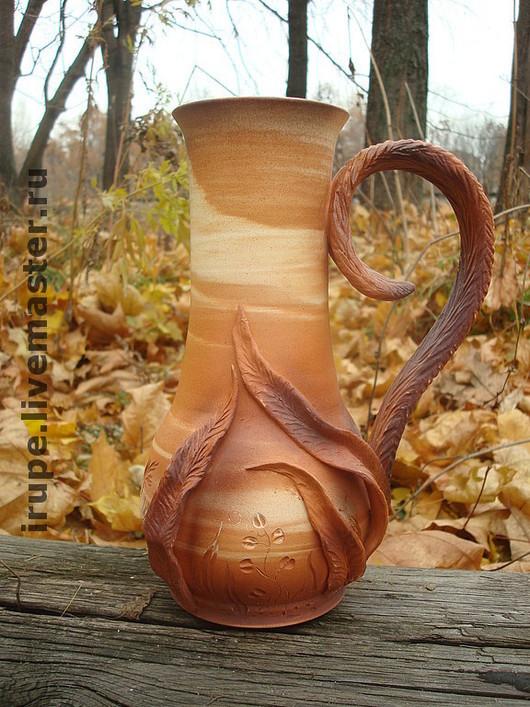 """Графины, кувшины ручной работы. Ярмарка Мастеров - ручная работа. Купить Кувшин """"Травы на закате"""". Handmade. Керамика, гончарная керамика"""