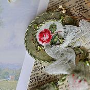 Украшения ручной работы. Ярмарка Мастеров - ручная работа Вышитая брошь Роза 2. Handmade.
