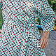 Order Cotton robe, Scarlet lips, gift to a friend. Blouse Blues. Livemaster. . Robes Фото №3