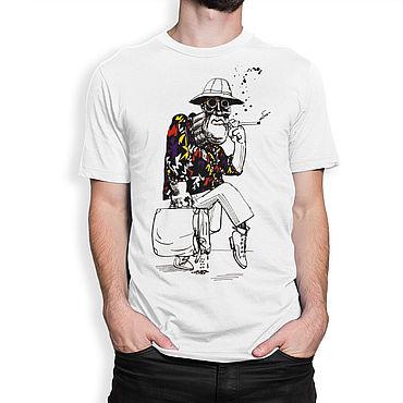 """Clothing handmade. Livemaster - original item Футболка с принтом """"Страх и Ненависть в Лас-Вегасе"""". Handmade."""