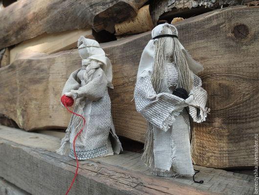 Народные куклы ручной работы. Ярмарка Мастеров - ручная работа. Купить Доля и Недоля авторские куклы. Handmade. Серый, кружево