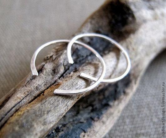Открытые серьги-кольца
