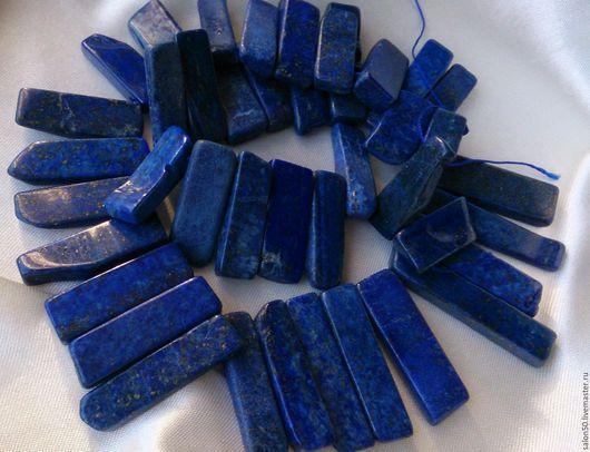 Для украшений ручной работы. Ярмарка Мастеров - ручная работа. Купить Лазурит с пиритом бусины полочки 1/2 нити. Handmade.